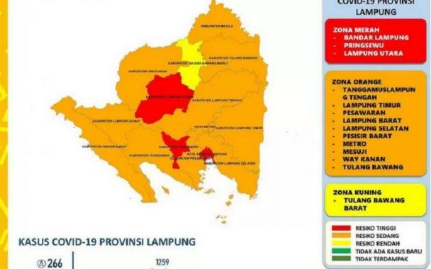Pringsewu, Bandar Lampung, dan Lampung Utara Zona Merah Covid-19