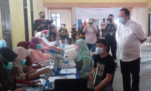 Ketua PDIP Lampung Pantau Vaksinasi Covid-19 di Metro