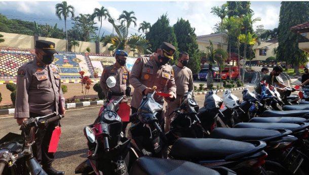Polres Tanggamus Ungkap Kasus Curat, Barang Buktinya 14 Sepeda Motor