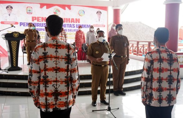 Nanang Ermanto Kukuhkan Komunitas UMKM Lampung Selatan