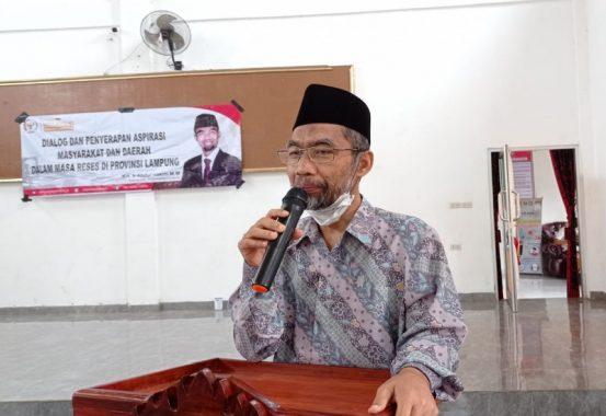 Senator Lampung Abdul Hakim Motivasi Patriot Desa di Pekon Sinar Betung Talangpadang