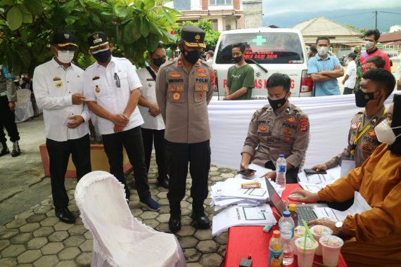 Wakapolda Lampung Kunjungi Gerai Vaksin Presisi di Tanggamus