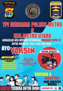 Polres Metro dan Trader Peduli Indonesia Bakal Gelar Vaksinasi Covid-19 Berhadiah Motor, Jangan Ketinggalan!